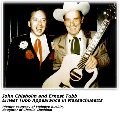 John Chisholm with Ernest Tubb - 1970