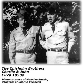 Chisholm Brothers - in uniform - 1950s