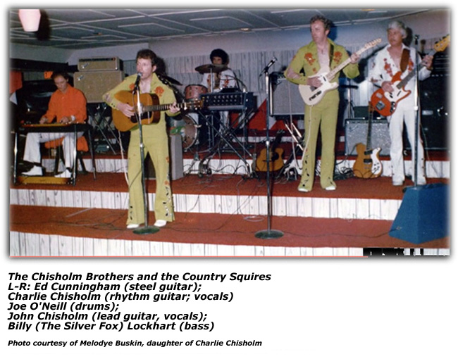 Chisholm Brothers and the Country Squires on stage