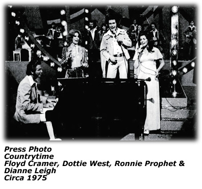 Countrytime - Floyd Cramer Dottie West Ronnie Prophet Dianne Leigh - 1975