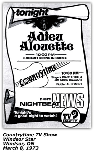 Countrytime TV Show ad - Windsor Star - March 73