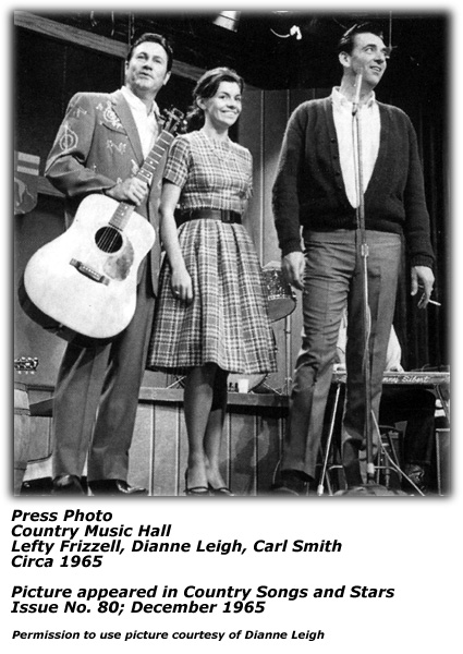 Country Music Hall - Lefty Frizzell Dianne Leigh Carl Smith 1965