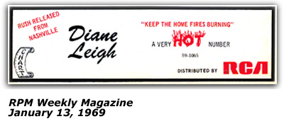 Promo Ad - Chart Records - RPM Weekly Magazine - Dianne Leigh January 13, 1969