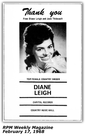 Dianne Leigh - Press Photo - Thank You - 1968