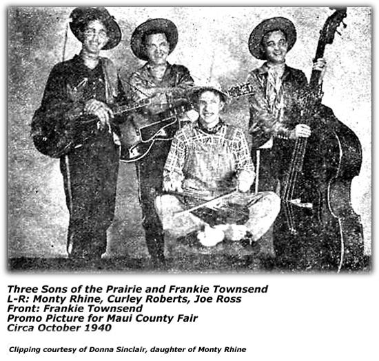 Three Sons of the Prairie - October 1940