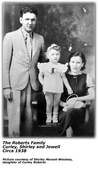 The Roberts Family - Curley, Shirley and Jewell - Circa 1938