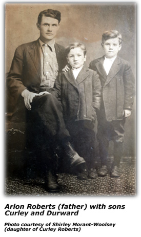 Arlon Roberts with sons Durward and Curley