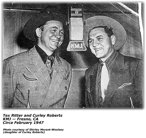Tex Ritter and Curley Roberts - KMJ - Feb 1947