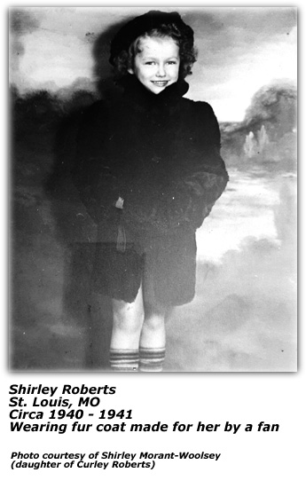 Shirley Roberts - Fur Coat Made For Her By Fan - 1930s