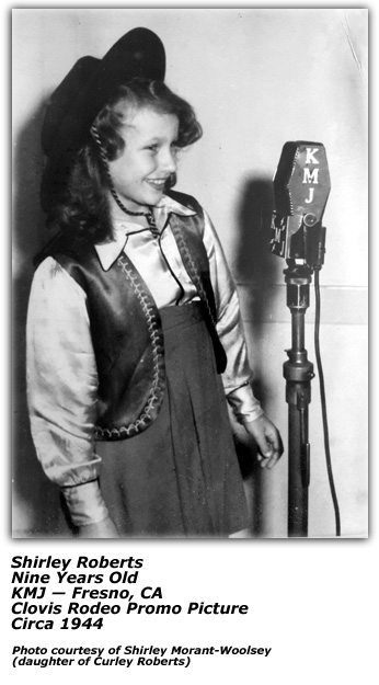 Shirley Roberts at KMJ 1944
