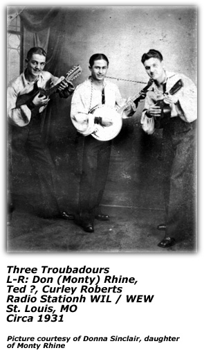 Three Troubadours - Circa 1931