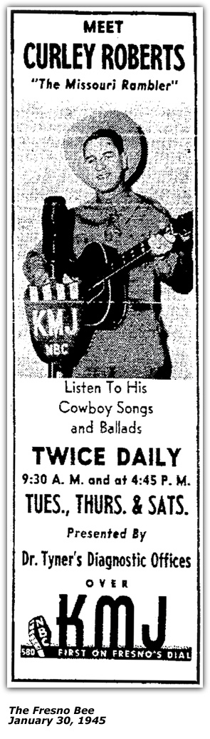 KMJ Promot Ad with Sponsor Dr. Tyner's Diagnostic Offices - Jan 1945