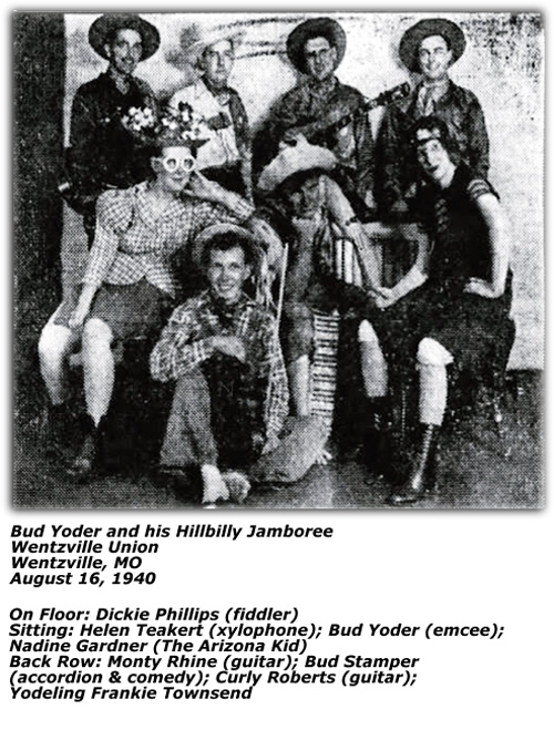 Bud Yoder's Hillbilly Jamboree - August 1940
