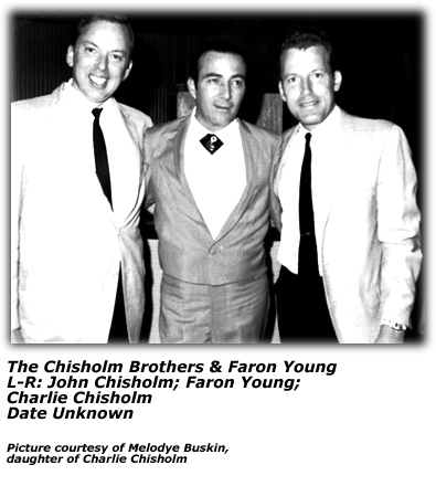 Chisholm Brothers with Faron Young (B and W)